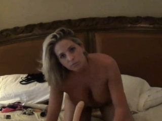 Mean Busty MILF Pushing Lingerie In Pussy