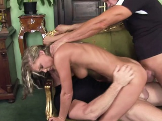 Hot MILF Double Enjoyment from wide of Two Stranger
