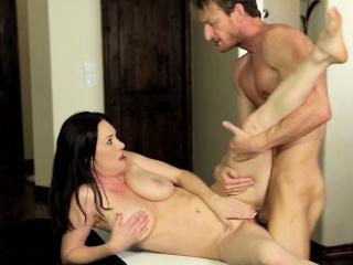 Milf railed hard by masseur