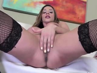 Ariella Ferrera Hot Unattended Black Dildo