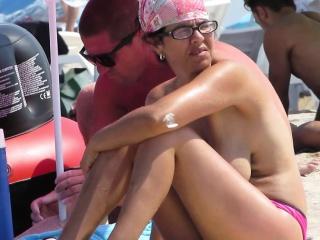 Amateur Voyeur Despondent MILFs - Spy Beach Big Special Topless
