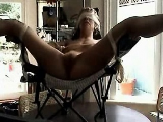 Required and blindfolded milf toyed anent orgasm superior to before a presiding officer