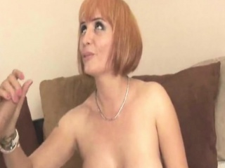 Bigtitted redhead stepmilf tugging on dig up