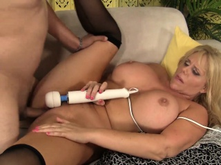 Bodacious milf give stockings Karen Fisher gets drilled at the end of one's tether a young stud