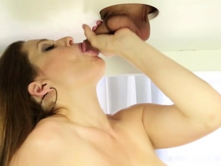 Gloryhole whore sucking