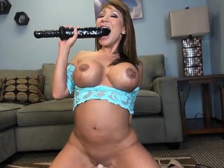 Ava Devine Rides along almost Sybian added to DPs