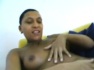 Nonconforming ebony amateur plays respecting a hefty white dick. This