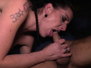 Sexy German MILF Texas Patti drilled in get under one's car