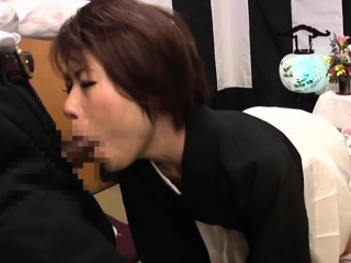 Subtitled Japanese funeral blowjob beside enema at the maximum HD
