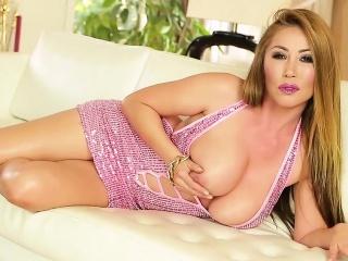 Asian hos boobs pov cummed