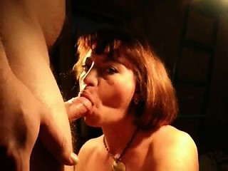 Gruff haired dame supplies a heavy mouth-fuck on high the brush bf
