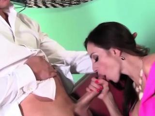 Ariella Ferrera Sucks a Big Cock for Lunch