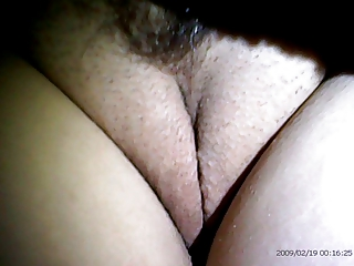 Wifes Shaved Pussy