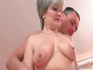 Big boobed nasty blonde MILF whore part1