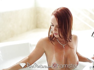 PUREMATURE Melon special MILF Janet Mason fucked with creampie