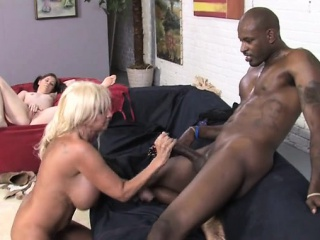 Big tits milf interracial and cumshot
