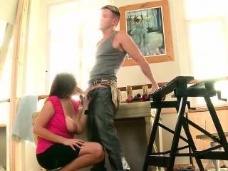 Indelicate bitch with beamy naturals gets screwed