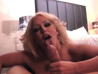 POV BJ  With respect to Hot Big Tit Blonde Star Alura Jensen