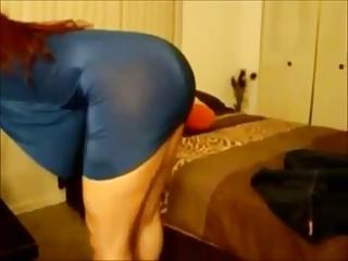Curvy redhead milf with black stud