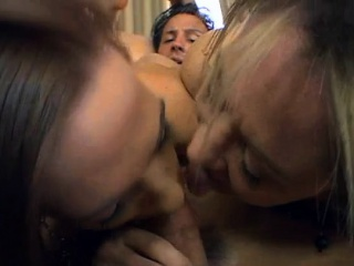 Toothsome full-grown girl is sucking a huge weenie hungrily