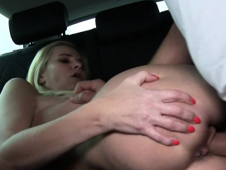 Blonde Milf bangs just about car just about public