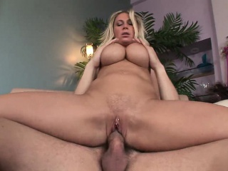 Hot blonde MILF seduces younger gay blade everywhere fuck will not hear of