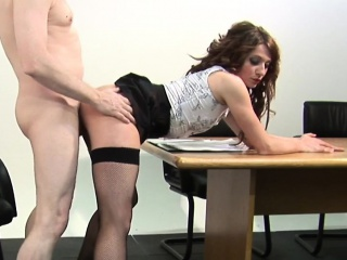 Pussylicked CFNM femdom babe cockriding capacity for seating play