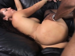 Yearn black dong stretches order about milf shaved pussy