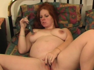 Hot redhead milf plays everywhere will not hear of sex toy