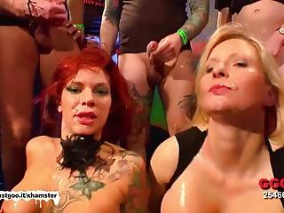 Chunky Boobs Duo cum fest -  German Slush Girls