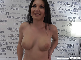 Luring Busty Mom Nikola Plays with Agents Cock