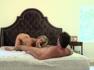 Blowjob wit with Brandi Love's mouth