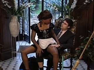 Inky maid gets white weasel words up her ass