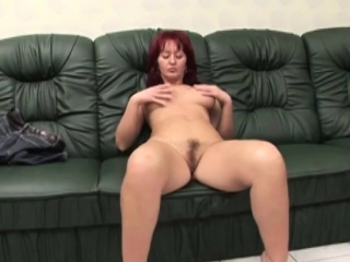 Adult indulge enjoys riding incapacitate cock on couch