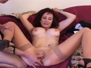 Redhead milf pick up be proper of threesome