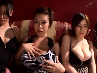 Busty oriental babe hardcore group sexual relations