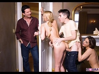 Walking in aloft His Show one's age and Big Tit Blonde Stepmom