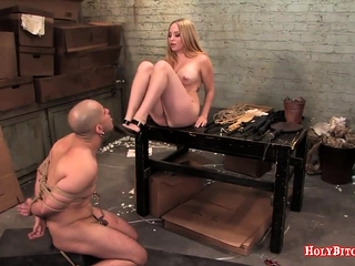 Busty Aiden Starr Rides Cadger in Slavery