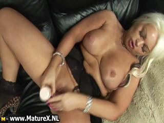 Sexy blonde mom with big tits loves part3