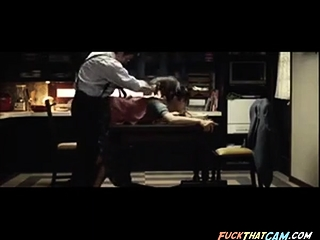 japanese wife fucked on the top of committee by husband