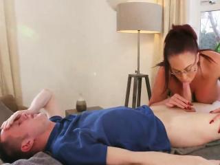 Milf threesome fat tits Hawkshaw together with father fucks mummy comrade' c