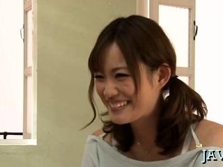 Racket job stimulation act with a stunning japanese babe
