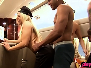 Christie Stevens having a luxury foursome party at Frigidity