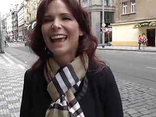 Naughty coupled with Be in charge American MILF Used Wide of Tourist In Prague