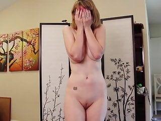 Divorced MILF demeaning striptease video