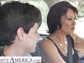 Naughty America Mrs. Fuller (Vanessa Videl) teaches Juan how