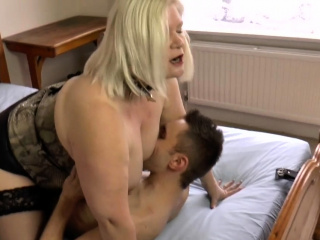 Big pain in the neck granny rides exposure and cock