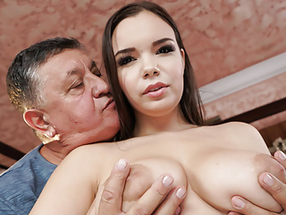 Busty Pamper Fucks Her Sugar-coat Daddy! What Naff Teen!