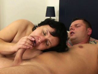 His Victorian girlfriends mother sucks coupled with rides cock