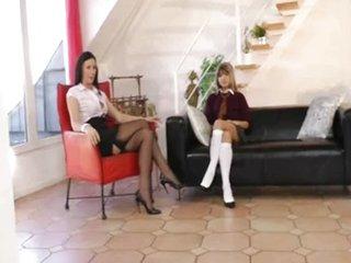 Schoolgirl seduces mature